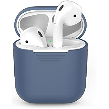 AhaStyle AirPods Silicone Case Shock Proof Protective Cover for Apple AirPods (Midnight Blue)