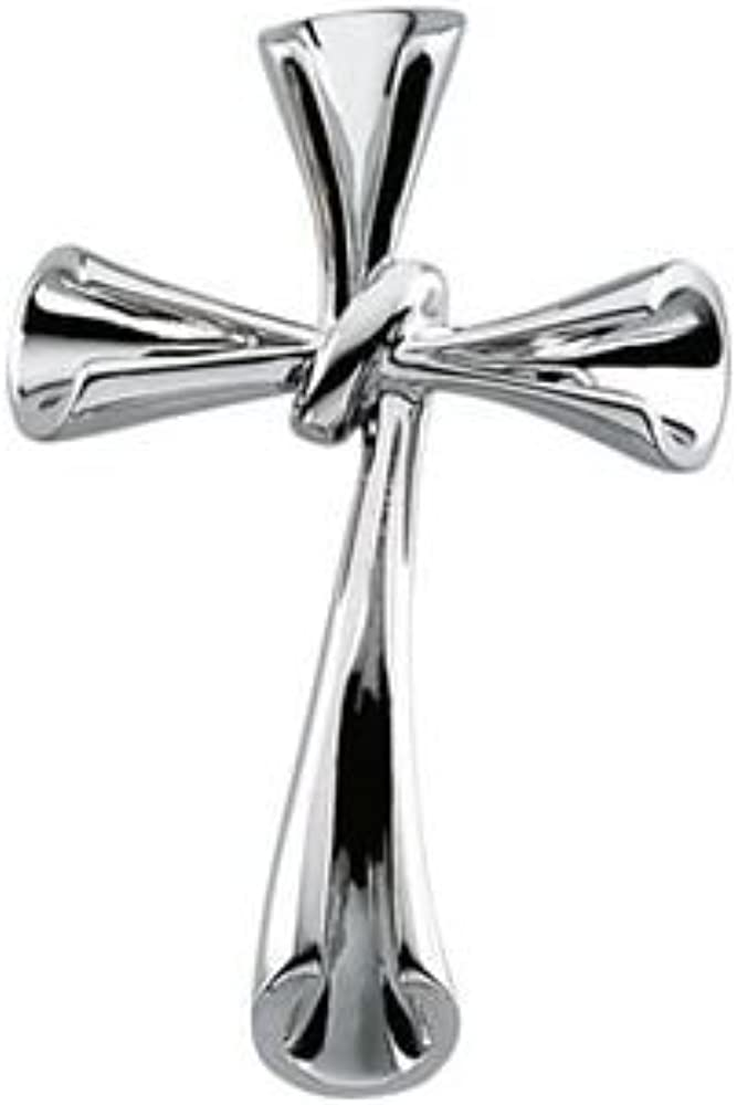 34.75x22.75 mm Religious Pendant in Sterling Silver