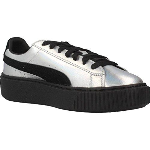 Sport scarpe per le donne, color Argento , marca PUMA, modelo Sport Scarpe Per Le Donne PUMA BASKET PLATAFORM EXPLOSIVE Argento