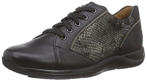 0162 Nero Sneaker G Ganter Weite Basse Gianna Donna Antrazit schwarz qYzwxUw