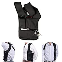 Men's Anti-theft Hidden Underarm Shoulder Bag Holster Armpit Bag Backpack Phone Bag Wallet Tactical Bag Black
