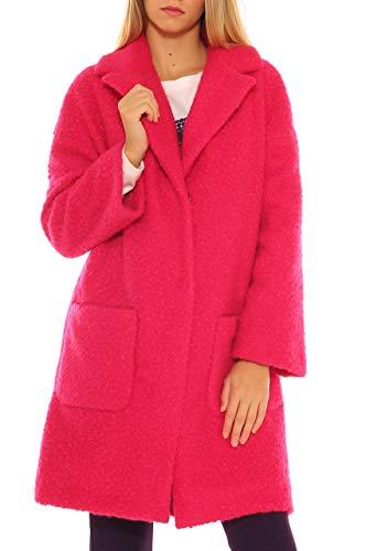 Maxi Bouclè Rosa In Caldo di Cappotto Key Donna Xqw5YUg