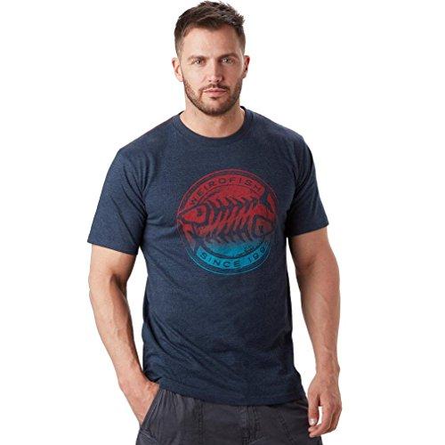 Weird Fish Mens Gradient Bones T-Shirt - Maritime (Weird Fish)