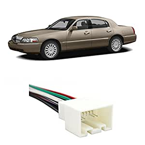 Amazon Fits Lincoln Town Car 19982002 Factory Stereo To. Radio Wiring Harnesses. Wiring. Crown Victoria Radio Wiring 1989 At Scoala.co