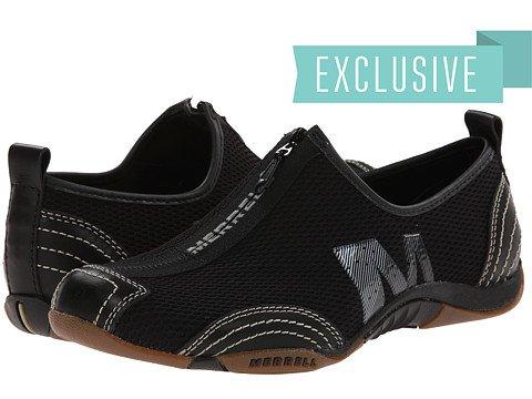 (メレル) MERRELL レディースウォーキングシューズ?スニーカー?靴 Barrado Black Leather 6 23cm M [並行輸入品]