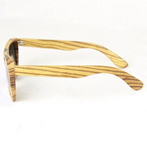 Natural soleil bois WOOD eco nature miroir bois soleil bois bois Sunglasses bambou Blue en de Lunettes de lunettes aspect bois des 78IH7xq