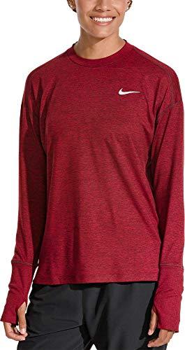 Nike Crew Element Da Crush A heather Crush red Maniche Donna Lunghe Maglia Burgundy r5rdWq