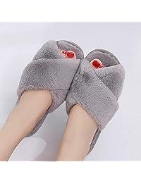 ZYGAJ Winter Women House Slippers Faux Fur Fashion Warm Shoes Woman Slip On Flats Female Slides Black Pink Cozy HomeFurry Slippers