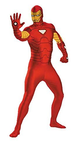 Iron Man Costume 38-40 (Disguise Marvel Iron Man 3 Bodysuit Mens Adult Costume, Gold/Red, Medium/38-40)