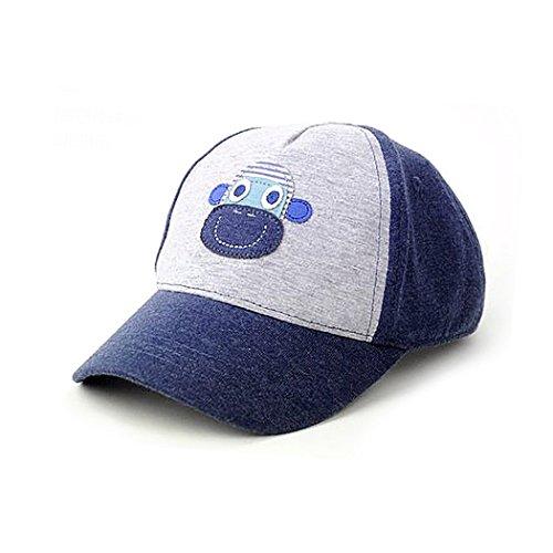 Green Kids Cute Stars Cotton Adjustable Baseball Hats Sun Visors
