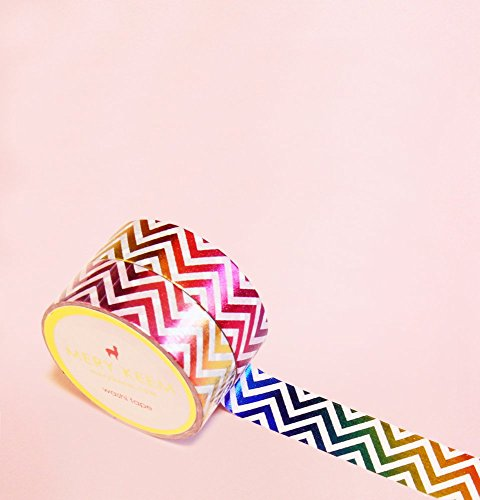 Colorful Chevron in Gradient Foil Washi Tape for Planning • Scrapbooking • Arts Crafts • Office • Party Supplies • Gift Wrapping • Colorful Decorative…
