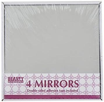 Ardisle 4 Mosa/ïque autocollantes Tuiles Miroir Autocollant Mural Decor Place Art Salle de bain en verre