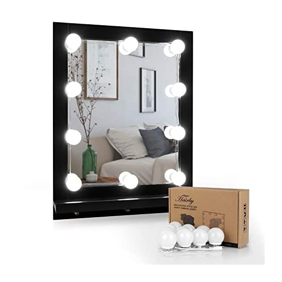 "HAIRBY Hollywood Style Kit with 10 Dimmable Bulbs 7000K Bright Plug in Vanity Light with 3M Stickers for Makeup Vanity Table Set in Dressing Room, 13.1ft, Mirror Not Included - 8 Different Nozzles- Unique design, easy to use. Hairby home water flosser can clean the teeth and the Gingival sulcus and other places where the toothbrush can not get to. Promote the blood circulation of the gums, eliminate the bad breath caused by poor oral hygiene, and provide you a comprehensive oral cleansing. Adjustable 10 Water Pressure- 10 water pressure adjustment, low noise design, to meet a variety of oral needs.With 1250-1700 times/minute high pressure water pulse,cleaning any part of the mouth without any obstacles.Not only flushes the gingival sulcus and the interdental space, but also ""sweeps"" a large area of the tooth surface and the tongue and oral mucosa. 600 ML large Capacity Water Tank- 600ML large capacity design, suitable for continuous and uninterrupted dental water flosser, no need to fill water again and again. The open tank and detachable design make cleaning easier. The vacuum suction cup at the bottom makes it stronger and does not accidentally move when cleaning the teeth. - bathroom-lights, bathroom-fixtures-hardware, bathroom - 41Yv14J3BsL. SS570  -"