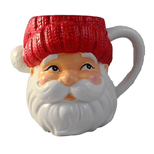 Hallmark Old Time Santa Face Ceramic Mug Vintage Design (Old Time Santa)