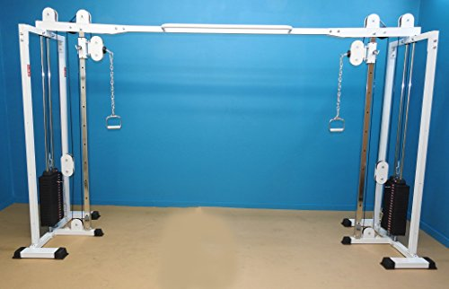 Cable Cross Over Gym with (2) 200 lb. selector plates by TDS