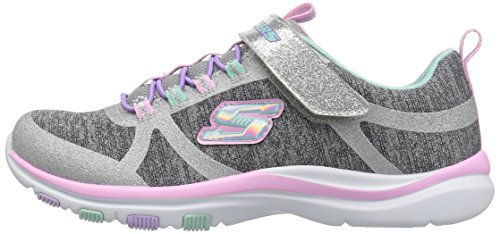 Skechers Kids Girls' Trainer LITE- Jazzy Jumper Sneaker, GYMT, 13 Medium US Little by Skechers (Image #5)