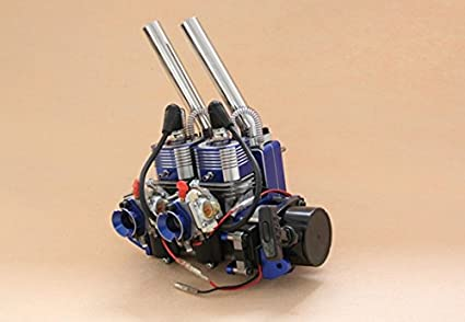 GOWE double-cylinder two-stroke 52CC engine of rc boat with