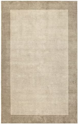 Pulse Border Area Rug 4 x6 Off-white