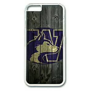 iPhone 6 Plus Case,PC Hard Shell Transparent Cover Case for iPhone 6 Plus(5.5Inch) Washington Huskies Wood by Sallylotus by runtopwell