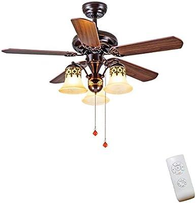 JINWELL Ventiladores de techo Nordic Brown Ventilador de techo ...