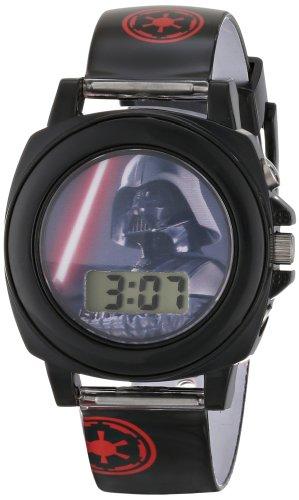 Star Wars Kids' DAR3517 Darth Vader Talking Watch With Black Rubber Band