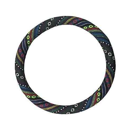 Universal Baja Blanket Steering Wheel Cover Baja Inca Saddle Blanket Tribal Weave Design Odorless 14.5