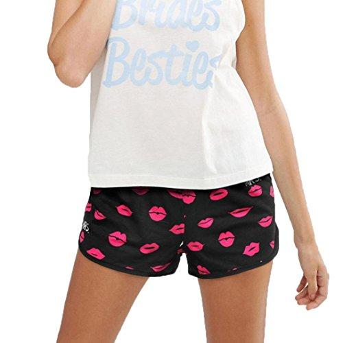 Fabal Women Underpants Knickers Sexy Boxer Briefs Shorts Underwear (XL, Black)
