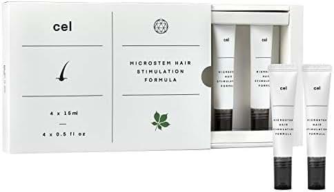 CEL MD Microstem Hair Stimulation Formula | Stem Cell Hair Growth Serum Treatment for Hair Loss Regrowth, Thicken Thinning Hair | Asparagus DHT Blocker Biotin Keratin Glycerin Castor Oil Packs