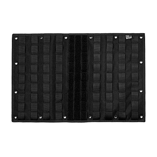 (OneTigris Multi-Purpose MOLLE Gear Panel Organizer Patch Display Board with 16 Grommeted Holes (Black))