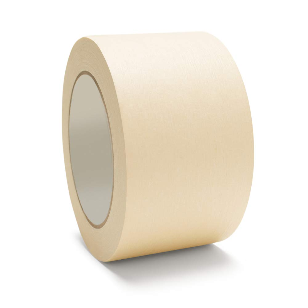 Masking Tape General Purpose 3'' x 60 yds 72MM 16 Rolls Per Case by The Boxery