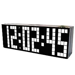 CHkosda Large LED Display Board Digital Snooze Alarm Clock(white LED)
