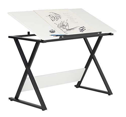 SD Studio Designs Studio Designs 13353 Axiom Modern Art, Drawing, Crafting, Drafting, 42-Inch Wide MDF Adjustable Angle Top Table in Charcoal/White, W x 24'' D x 30'' H by SD STUDIO DESIGNS (Image #4)
