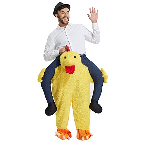 Size Piggyback Unisex Yeahbeer Riding Adult On Fancy Ride Costume Cock Adult Carry Me Dress Shoulder UOAwAdq