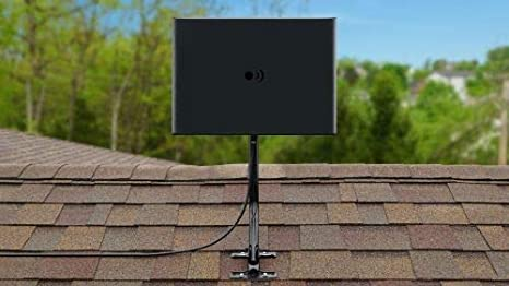Antennas Direct Clearstream Amplified TV Antenna UHF//Vhf RG-6 Cable USB In-Line Amplifier Grips to Walls FLEX 50+ Mile Range 15 ft Black//White//Paintable 4K Ready Multi-Directional