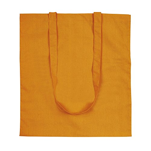 Bag Shopping eBuyGB Tote Shoulder Orange White Cotton 100 Shopping eBuyGB wTTOqWgU1