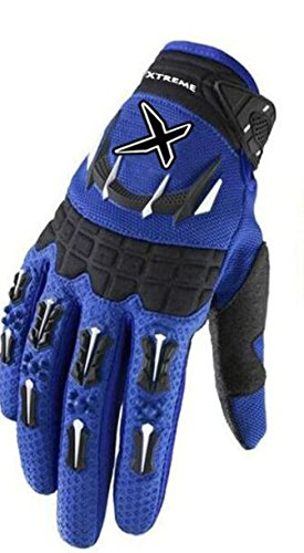 Sports and Outdoors Gloves - Unisex Off Road Gloves Universal Durability Cycling Bike Bicycle MTB DH Downhill Dirt Bike Atv & Motorcycle Glove Comfortable Fit Color: Blue, Size: XLarge Black White Motorcycle Gloves