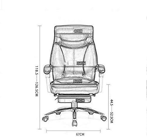 Fåtöljar GSN svängbar verkställande stol, hushåll kontorsstol modern enkel bok bord ryggstöd fritid PU-läder rotera stol kontorsstol (storlek: svart)