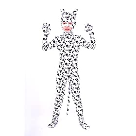 - 41Yv5k0FDTL - Nedal Kids Halloween Skin Suit Animal Costume Dog Bodysuit Zentai Cosplay