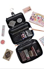 On the go or at home, the unique and durably designed VOYAGE case keeps your makeup and other beauty products organized and protected. The built-in hanger provides easy access. The case can be attached to a towel rack or hook so you can easil...