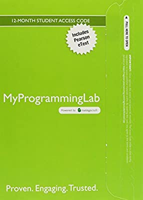 MyProgrammingLab with Pearson eText -- Access Code Card -- for An Introduction to Programming Using Python