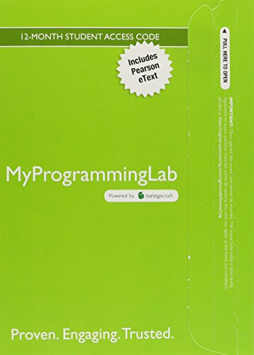 MyProgrammingLab with Pearson eText -- Access Code Card -- for An Introduction to Programming Using Python by Pearson
