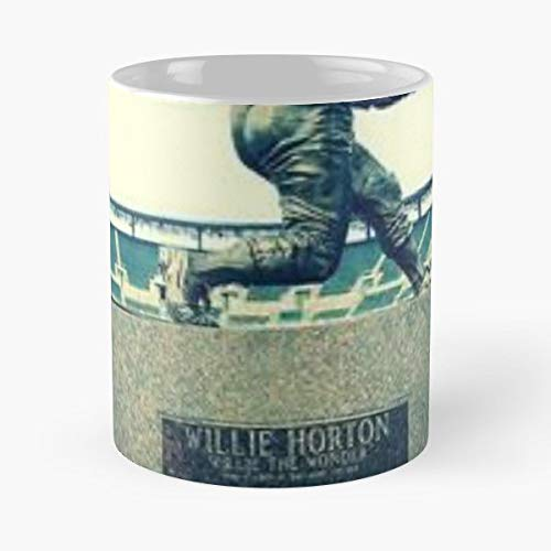 Willie Horton Tigers Detroit Baseball Statue Comerica Park Stadium Hall Of Fame Retired 23 Legend World Series 1968 Gift Ceramic Novelty Cup 11 Oz
