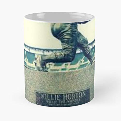 (Willie Horton Tigers Detroit Baseball Statue Comerica Park Stadium Hall Of Fame Retired 23 Legend World Series 1968 Gift Ceramic Novelty Cup 11 Oz)