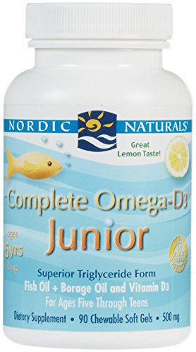 Nordic Naturals - Complete Omega-D3 Junior, Promotes Brain, Bone, and Nervous and Immune System health, 90 Soft Gels