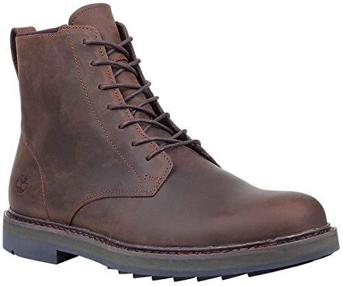 Canyon Leather Boot (Timberland Men's Squall Canyon Plain Toe Waterproof Boot Dark Brown Full Grain 10.5 D US)