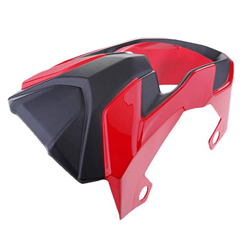 - D DOLITY Motorbike Wind Shield Screen Headlight Front Cover for Honda Grom MSX125 - Red