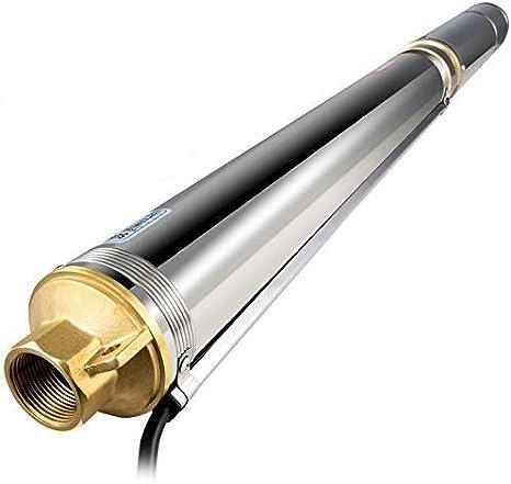 VEVOR Bombas de Agua Sumergibles para Pozos, 2 HP 220V Bomba Sumergible para Pozo Impulsores 18 Piezas, Bomba de Agua Sumergible Pozo para Aguas Cuerpo de Acero Inoxidable Malla de Filtración