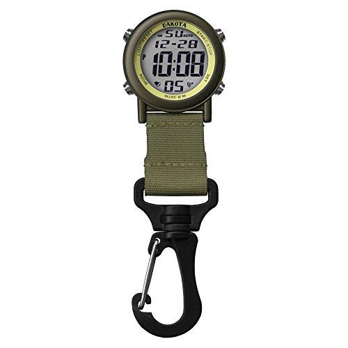 28821 Dakota Digital Backpacker Carabiner Clip Watch Green (Dakota Digital Watch)