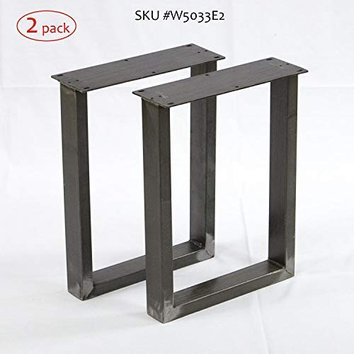 W5033E2 Bench Legs U-shape, 2 Pack, Narrow Coffee Table Legs, by Rusty Design