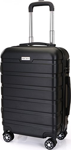 20-Inch ABS Lightweight Carry On Spinner Luggage – Black – by Utopia Home